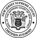 New Jersey Supreme Court | Certified Attorneys | Seal Of the Supreme Court Of New Jersey